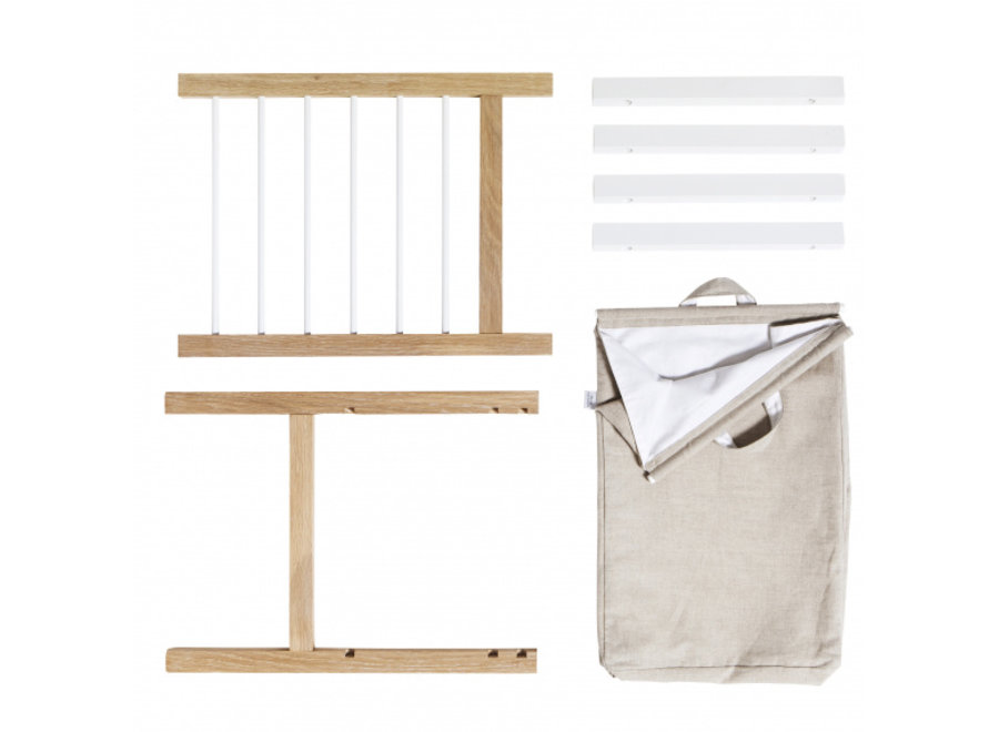 2 PULL-OUTS AND LAUNDRY BAG FOR SEASIDE DRESSER & NURSERY DRESSER WITH 6 DRAWERS
