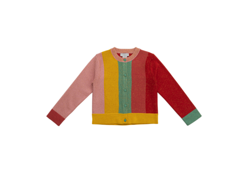 Stella McCartney Kids Lurex Knit Cardigan Multicolor
