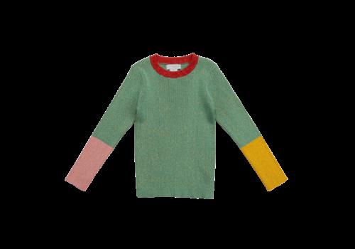 Stella McCartney Kids Lurex Knit Jumper Watermint