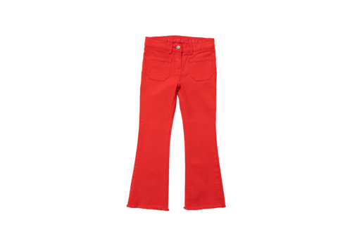 Stella McCartney Kids Flare Denim Trs W/Pockets Red