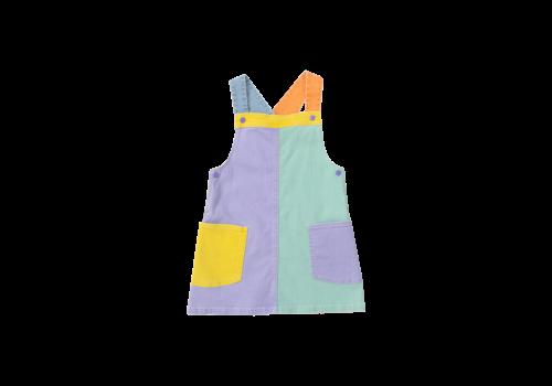 Stella McCartney Kids Denim Dress Colblock Multicolor