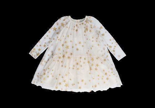 Stella McCartney Kids Gold Stars Tulle Dress Gold Stars
