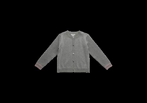 Stella McCartney Kids Lurex Knit Cardigan Silver