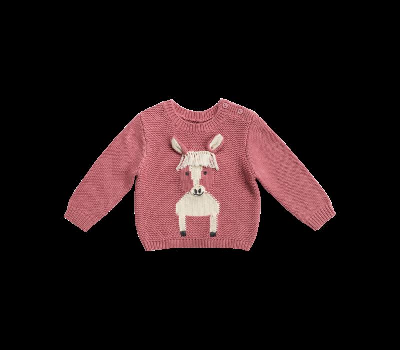 Horse Jumper Baby Pink