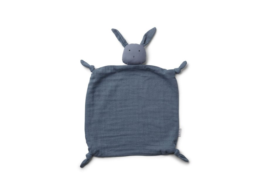 Agnete Cuddle Cloth - Rabbit blue wave