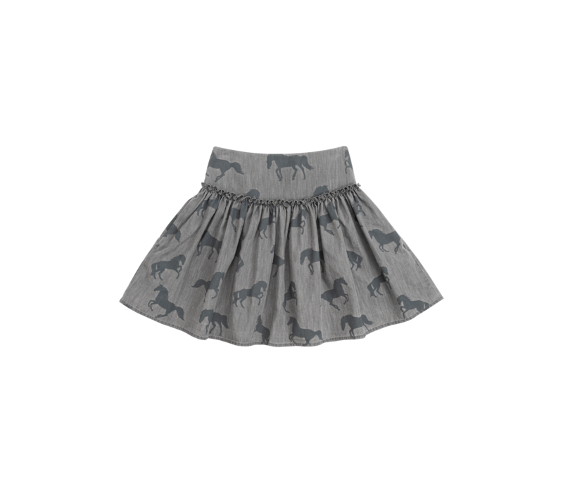 Bleached Horses Chambray Skirt Bleached H