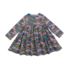 Stella McCartney Kids Clouds & Rainbow Denim Dress Rainbow Cl