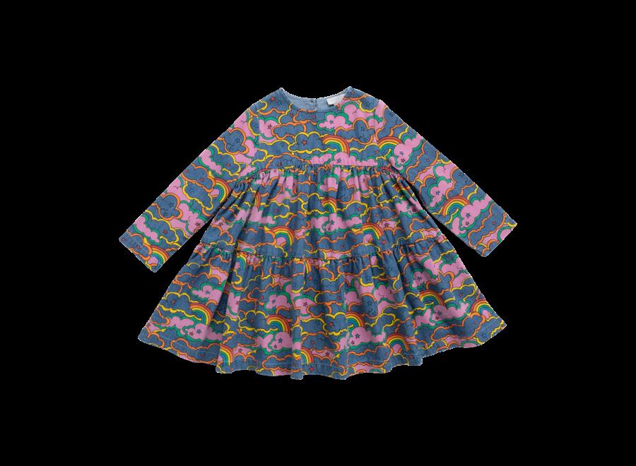 Clouds & Rainbow Denim Dress Rainbow Cl