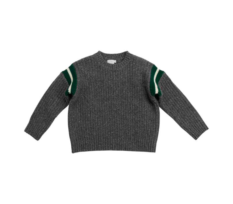 Donegal Knit Jumper Ash Grey