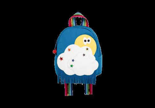 Stella McCartney Kids Backpack W/Clouds & Sun Patch Bright Blu