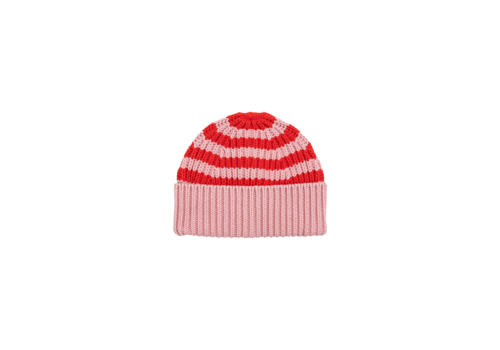Stella McCartney Kids Knit Hat W/Stripes Peach