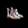 Stella McCartney Kids Booties W/Inserted Red Stars Silver