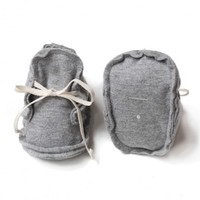 Baby Raw Edged Booties Grey Melange