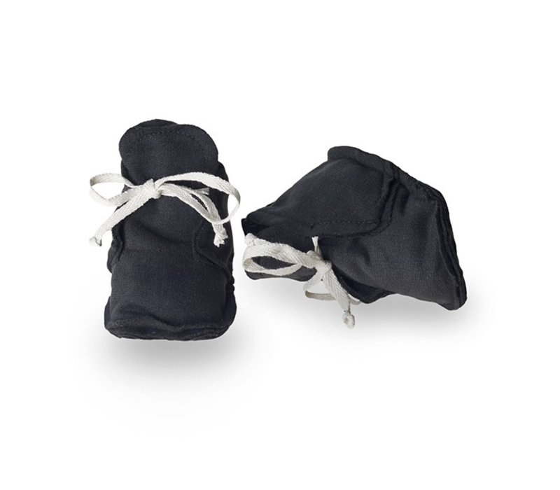 Baby Raw Edged Booties Nearly Black