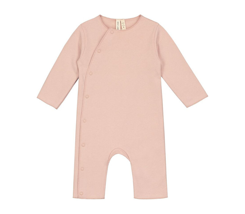 Baby Suit with Snaps Vintage Pink
