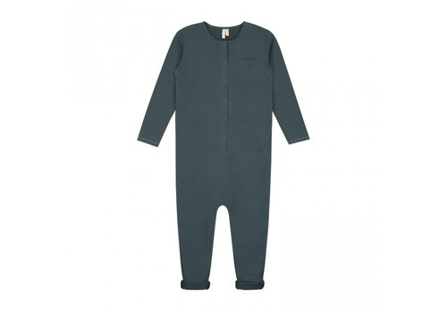 Gray Label Baby L/S Playsuit Blue Grey