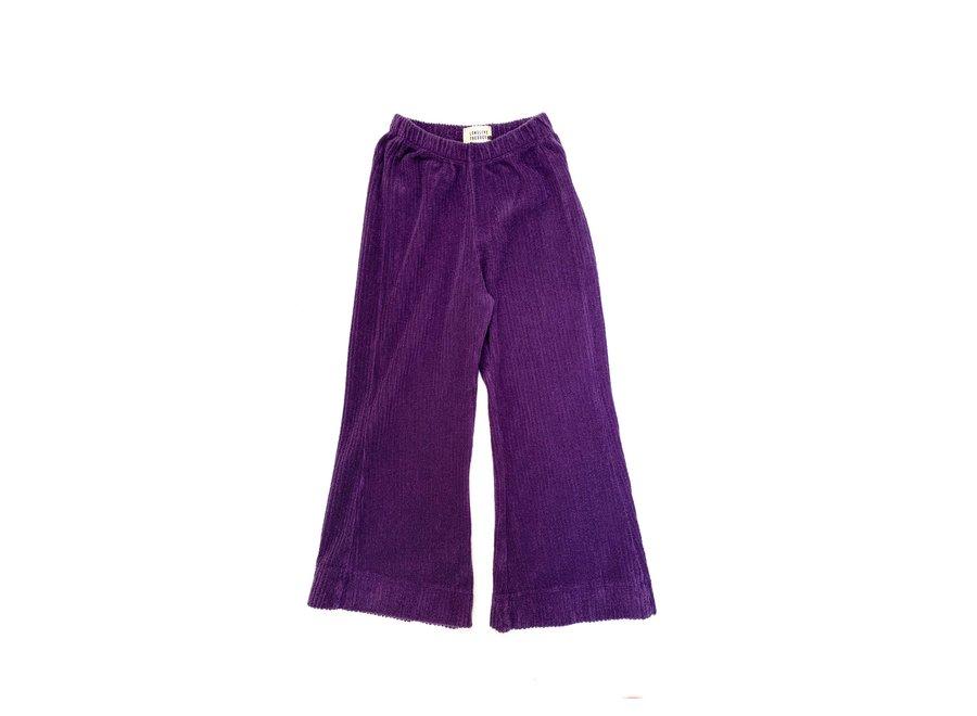 flared pants purple velvet