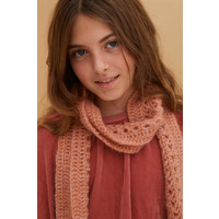 crochet scarf pale rust