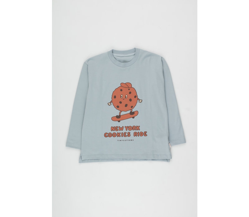 Cookie Ride Tee warm grey/sienna
