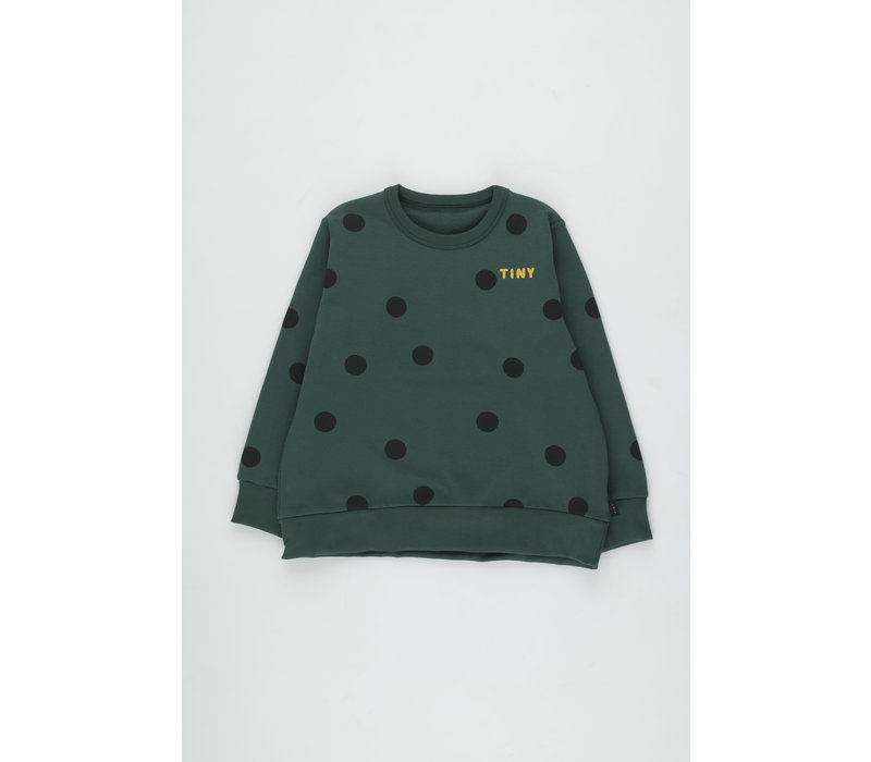Big Dots Sweatshirt dark green/black