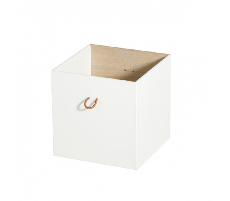Boxes 3 pcs, white/oak