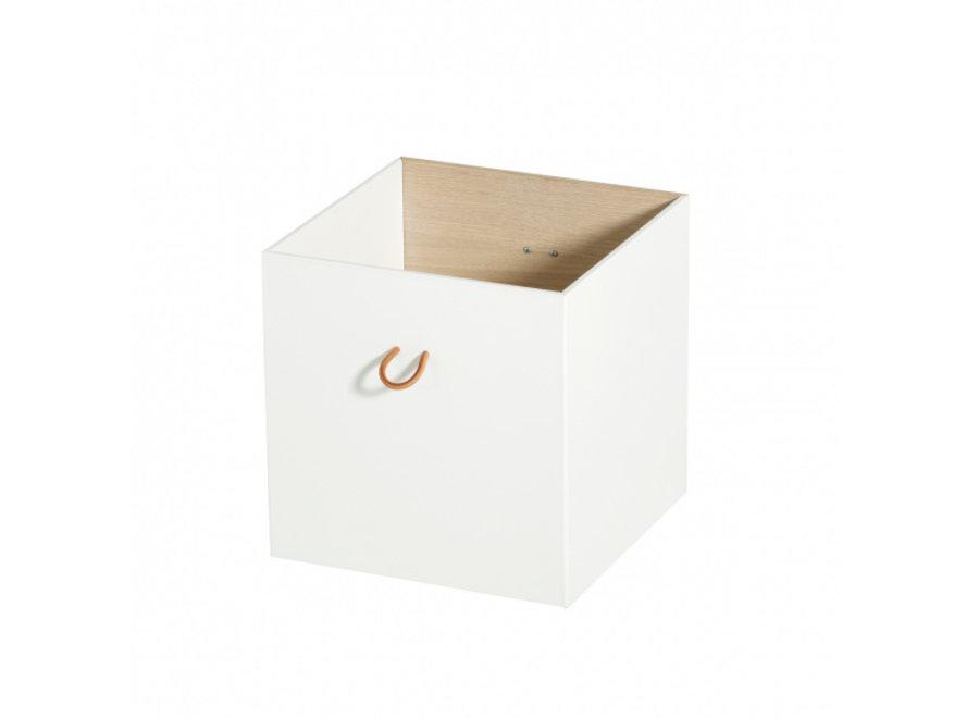 Boxes 3 pcs, white/oak