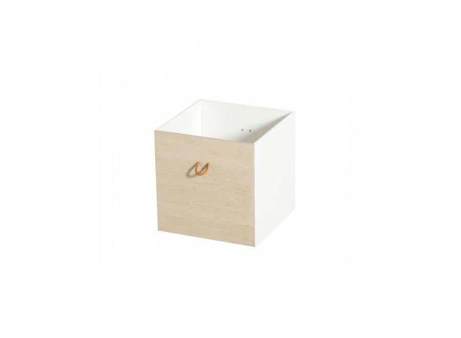 Boxes 2 pcs, white/oak