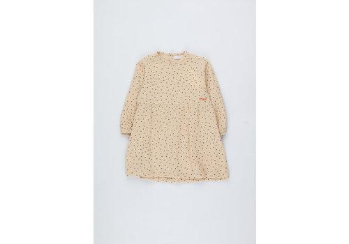 Tiny Cottons Tiny Dots Baby Dress cappuccino/navy