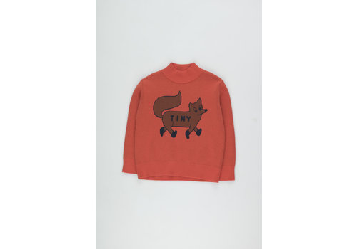 Tiny Cottons Tiny Fox Sweater red/sienna