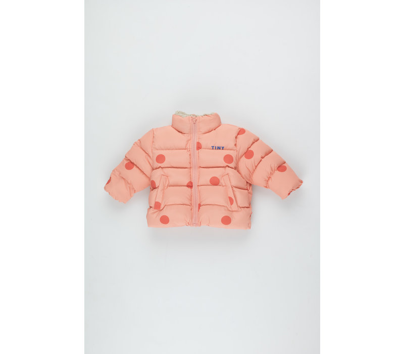 Big Dots Padded Jacket peachy red/red