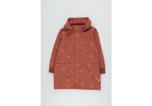 Tiny Cottons Hearts Jacket sienna/red