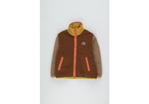 Tiny Cottons Color Block Polar Jacket sienna/tan