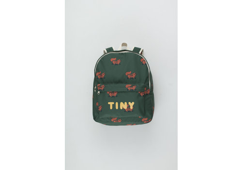 Tiny Cottons Foxes Big Backpack dark green/sienna