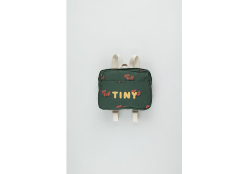 Tiny Cottons Foxes Small Backpack dark green/sienna