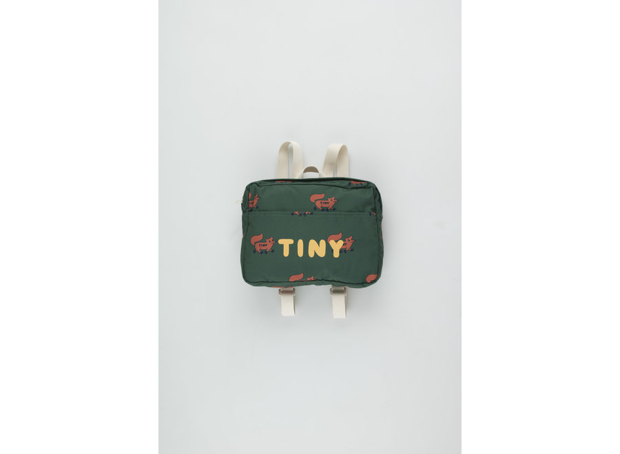 Foxes Small Backpack dark green/sienna