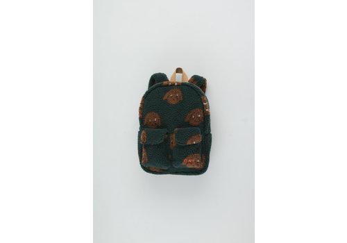 Tiny Cottons Tiny Dog Small Sherpa Backpack dark green/sienna
