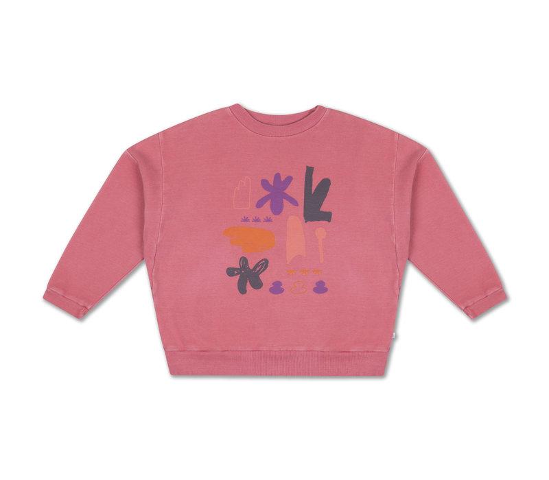 Crewneck Sweater Hot Flamingo