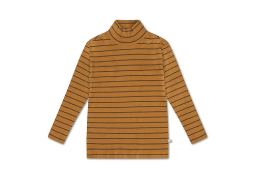 Repose AMS Turtle Neck Golden Noir Fine Stripe