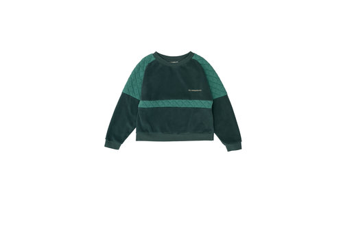 The campamento Green Contrasted Sweatshirt Green