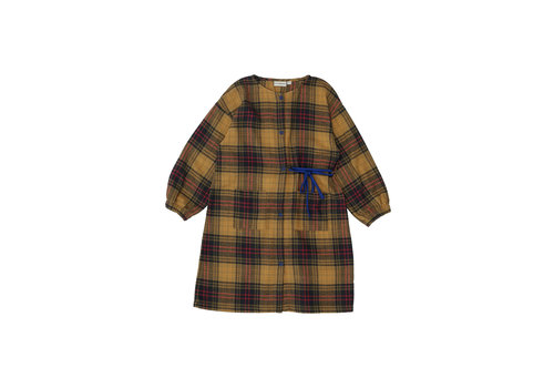 The campamento Checked Dress Yellow