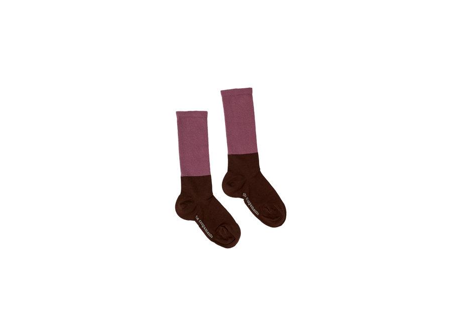 Bicolor Socks Brown