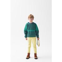 Green Contrasted Sweatshirt Green