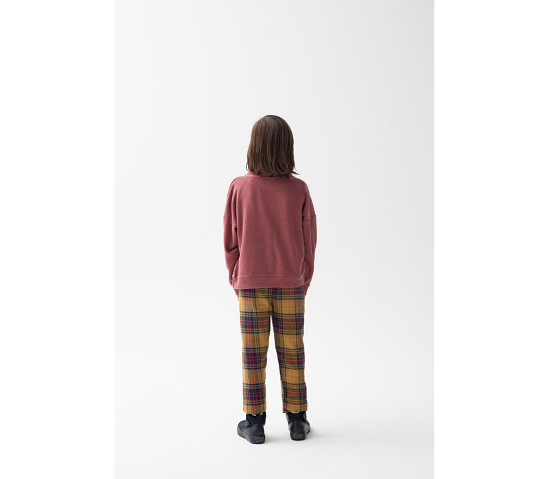 Checked Trousers Yellow