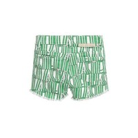 Green Stella Type Denim Shorts White/ Green
