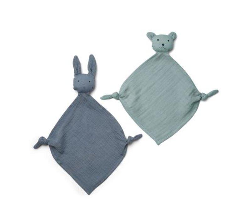 Yoko mini cuddle cloth 2-pack Blue mix