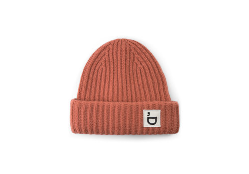 Designers Remix Girls Sterling Hat Wool knit hat with logo badge Cinnamon