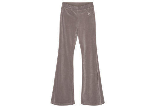 Designers Remix Girls Frances Flare Velour jersey flared pants Taupe