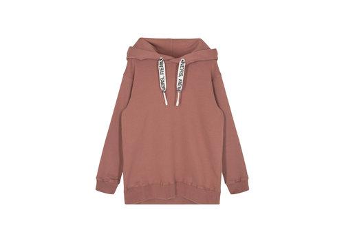 Designers Remix Girls Parker String Hoodie Jersey hoodie with logo string Brown
