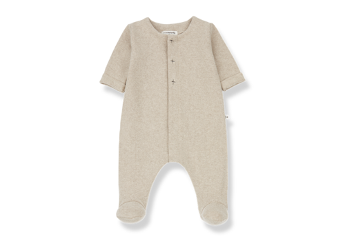1 + More in the Family Odette jumpsuit w/feet Cream