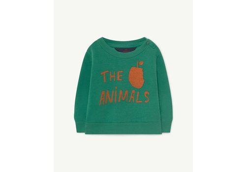 The Animals Observatory Bear Baby Sweatshirt Green The Animals